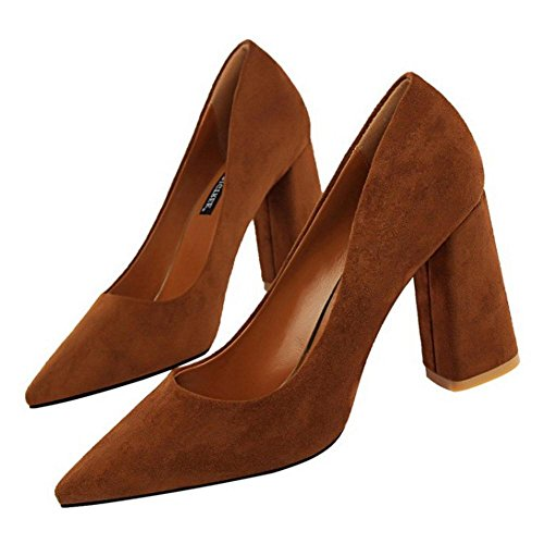 Pointed Toe Camel Women Pumps Solid KemeKiss qTEZxfOa