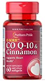 Puritan's Pride Q-Sorb Co Q-10 & Cinnamon-60 Rapid Release Softgels