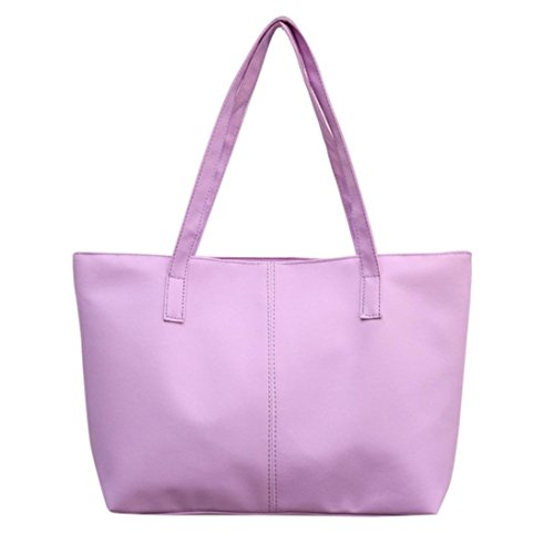 Tote Bag Leather,Clearance! AgrinTol Women Ladies Leather Shoulder Bag Celebrity Tote Purse ()