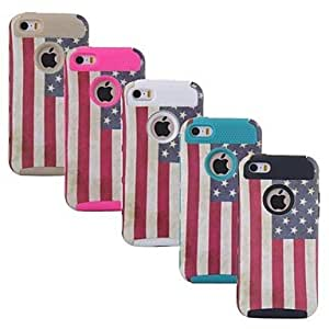 JAJAY Retro National Flag Phone Case Cover for iPhone5/5S