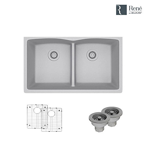 Rene R3-1007-PWT-ST-CGF, Strainer & Flange, Pewter (Kitchen Strainer Pewter Sink)