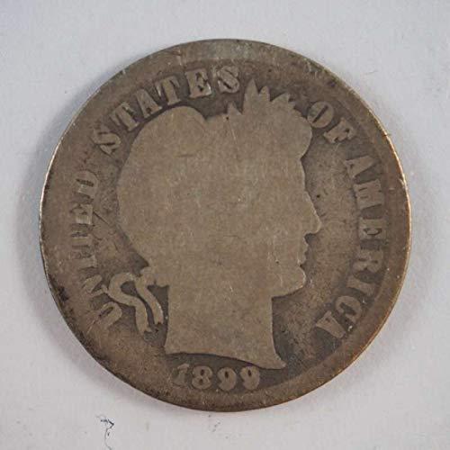 1899 Barber Dime - 4