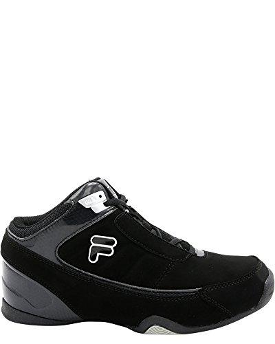 Fila Kid's Change The Game Basketball Sneaker, Black/Black/Metallic Silver, 4.5 M US Big Kid