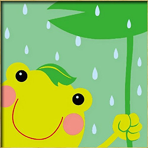 Diy oil painting, paint by number kits for kids – Small frog 8″X 8″.