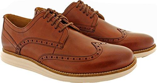 Cole Haan Men's Original Grand Shortwing, Woodbury Leather/Ivory, 9.5 Medium US