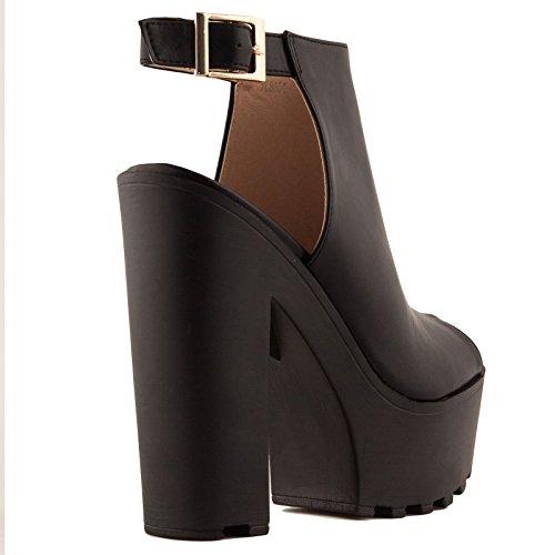 Toocool ,  Damen Schuhe mit Riemchen Schwarz