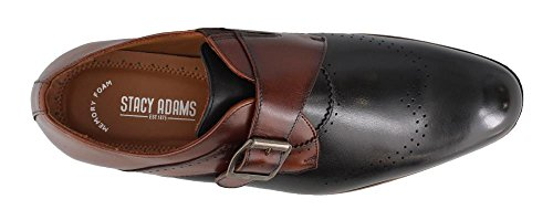 Stacy Adams Saxton Mens Slip On Black / Cognac
