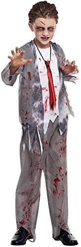 Partilandia Disfraz Zombie Colegial para niño(10-12 años): Amazon ...
