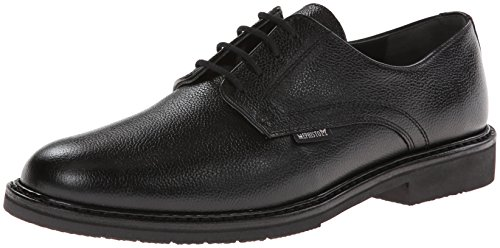 Mephisto Mens Marlon Lace-up Oxford Black Pebble Grain