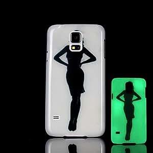 GX belleza patrón resplandor en el caso duro oscuro para i9600 Samsung Galaxy S5