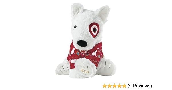 Amazon Com Target Limited Edition Holiday Bullseye Dog Plush St
