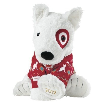Target Limited Edition Holiday Bullseye Dog Plush St Judes 2012