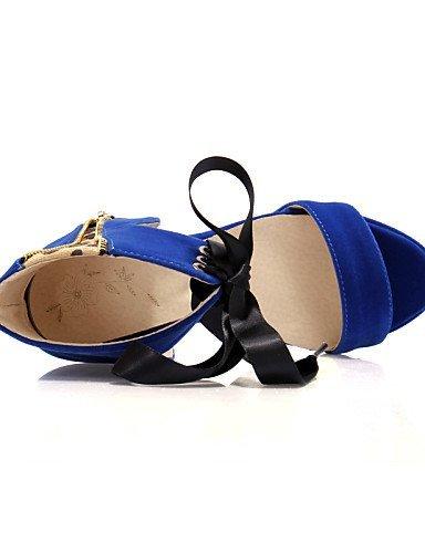 ShangYi Blue Black Women's Party Platform Sandals Heels Peep Heel Evening Red Dress Casual amp; Shoes Black Toe Heels ppycwZ1rq