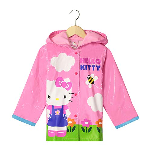 SANRIO Hello Kitty Girl's Pink Rain Coat - Size 5 -