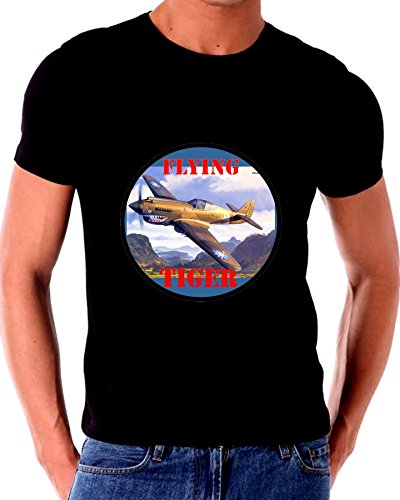Wolrd War 2 II Fighter Planes Flying Tiger T shirt ()