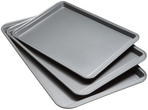 Non Stick Medium Cookie - Good Cook Set Of 3 Non-Stick Cookie Sheet