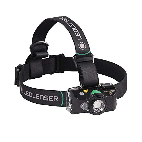 Ledlenser - MH8 Lightweight Rechargeable Headlamp with Removable Headstrap, High Power LED, 400 Lumens, Backpacking, Hiking, Camping (Black)