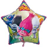 Unique Industries Two Pieces 34 inches Trolls Helium Metallic Foil Balloon and Two Pieces 18 inches Trolls Helium Metallic Foil Balloon bundled by Maven Gifts