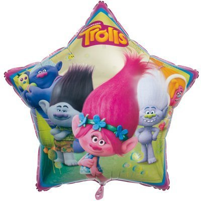 Unique Industries Two Pieces 34 inches Trolls Helium Metallic Foil Balloon bundled by Maven Gifts