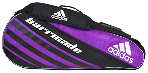 adidas Unisex Barricade IV Tour 3 Racquet Bag, Flash Pink/Black, ONE SIZE