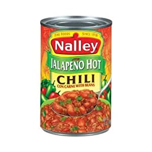 Nalley Chili Jalapeno Hot Con Carne with Beans, 15 Ounce -- 24 per case.