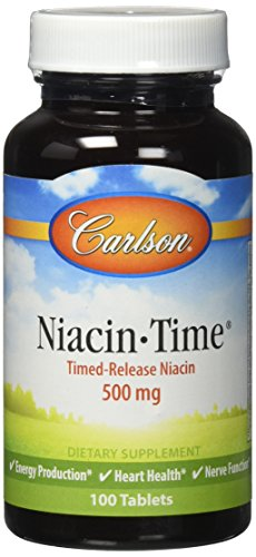 Carlson Niacin Time Release 500mg Tablets