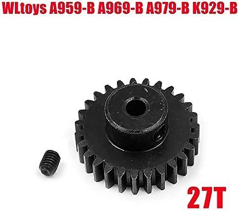F-Jiujin-cl Engrenage Droit de r/éduction en m/étal 42T Pignon Principal et Moteur 27T for WLtoys A959-B A969-B A979-B K929-B Remplacement de A959-B-15 Couleur : XY 18025 XY 18026