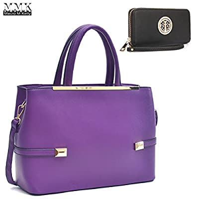 MMK collection Women Fashion Matching Satchel handbags with wallet(02-2526)~Designer Purse for Women ~ Perfect Women Purse and wallet~ Beautiful Designer Handbag Set