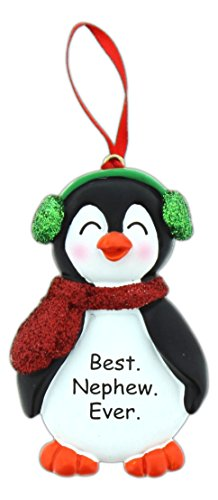 Special Family Expressions Glittery Penguin Ornament (Best. Nephew. - Nephew Ornament
