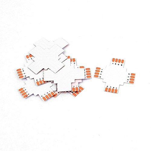 eDealMax 10 piezas de la Cruz hembra Tipo 4P 4 Way Conectador del acoplador de la Junta para 5050 10mm RGB LED - - Amazon.com