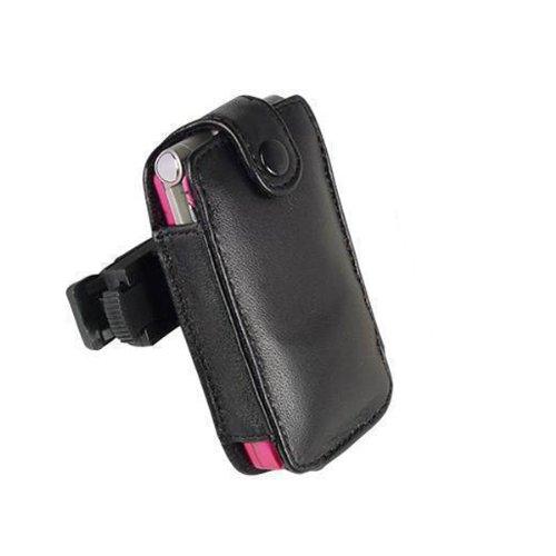 (Technocel Fitted Leather Case for Motorola V3 - Black)