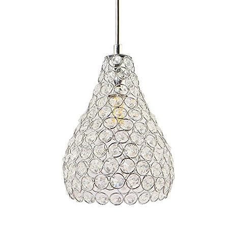 Fy-Light Luz de techo de cristal, Lámparas de techo de estilo moderno de cristal K9 de montaje empotrado 1 16CM Luz Copa Lampshade Pear