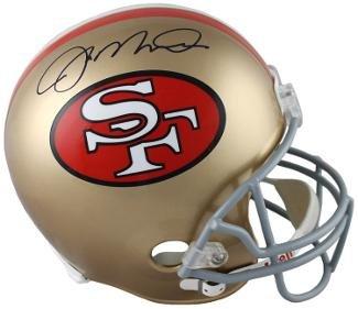 Autographed Joe Montana Mini Helmet - Riddell TB Hologram - JSA Certified - Autographed NFL Mini Helmets ()