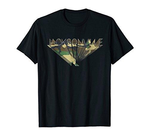 Jacksonville T-Shirt Florida Woodland Camouflage Tee ()