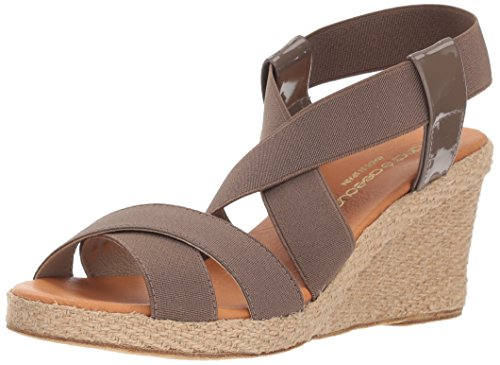 Women's Wedge Sandal Espadrille Dalmira Assous Taupe Andre A41qT