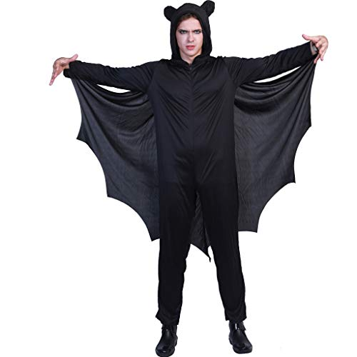 EraSpooky Bat Halloween Costume Men Women Kids ()