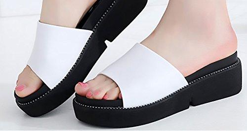 XING Carreaux Femmes Wedges Casual 40 Summer à Marée Femmes Wordpad Semelle GUANG Fashion Red White Pantoufles Femmes 38 New Pantoufles Épais pwCqpzrx