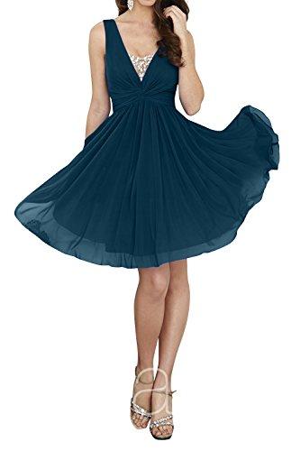 Kurz Brau mia La Cocktailkleider Festlichkleider Tinte Brautjungfernkleider Knielang Kleider Jugendweihe Blau Partykleider Abendkleider Mini pSfxwqxt