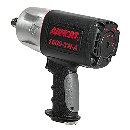 Image of Home Improvements AIRCAT 1600-TH-A 3/4' Drive Composite Impact Wrench, Medium, Black & silver