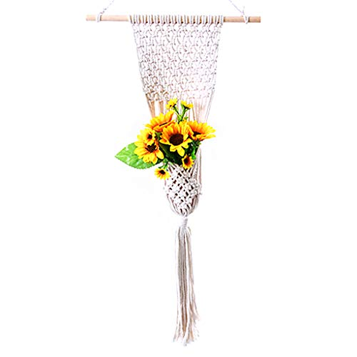 YiFeiCX Handmade Weaved Tapestry Macrame Plant Flower Pot Hanging Holder Hanger Home Garden Balcony Courtyard Decoration