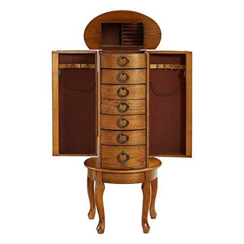 Powell Burnished Oak Jewelry Armoire by Powell (Image #5)