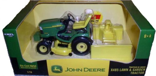 John Deere X485 Lawn & Garden Die-Cast Metal Tractor 1:16
