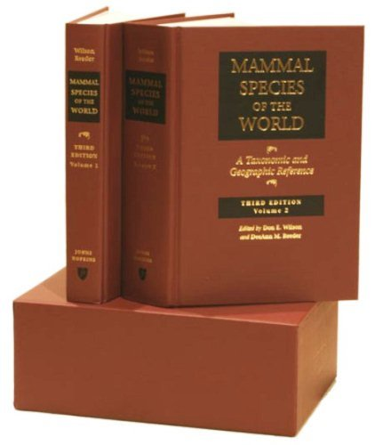 Mammal Species of the World : A Taxonomic and Geographic Reference, 2-volume set