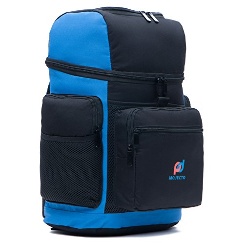 Cooler Backpack Bag - Dual Insulated Compartment. Multiple Pockets, Heavy Duty 900D Fabric, High Density Thick Foam Insulation, Heat Sealed Thick Peva Liner, Strong Zippers, padded Straps.