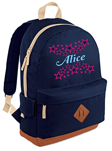 Name design with with Backpack Stars PERSONALISED print Navy Pink Blue Heritage in and Sky Hot SwTtnq