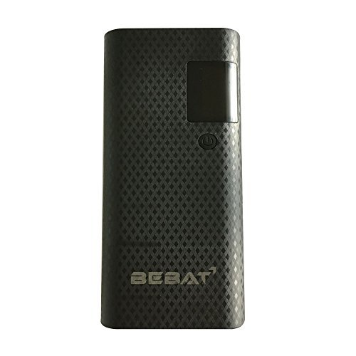 BEBAT 15000mAh Power Bank with 3 USB Ports - Black