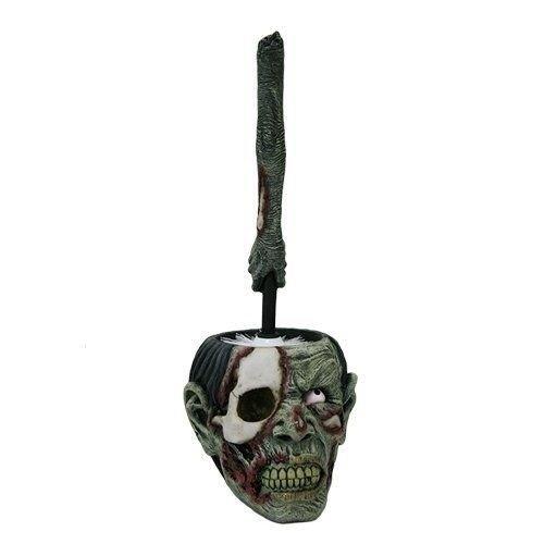 Zombie Walking Dead Halloween Skeleton Home Toilet Brush and Holder Sculpture For Premium Home Garden Decor