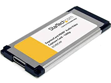 StarTech.com ECHDCAP - Tarjeta adaptadora ExpressCard HDMI de Captura de Video HD con Audio (1 x HDMI Hembra)
