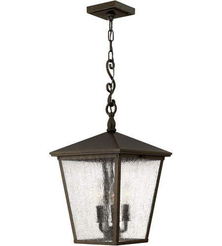 Outdoor Pendant 3 Light Fixtures with Regency Bronze Finish Aluminum Material Candelabra 11