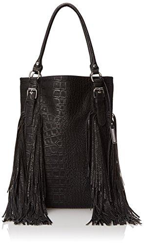 Urban Originals Crazyheart Croc Shoulder Bag, Black, One Size